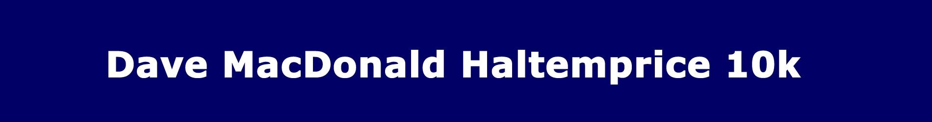 Dave Macdonald Haltemprice 10K 2021